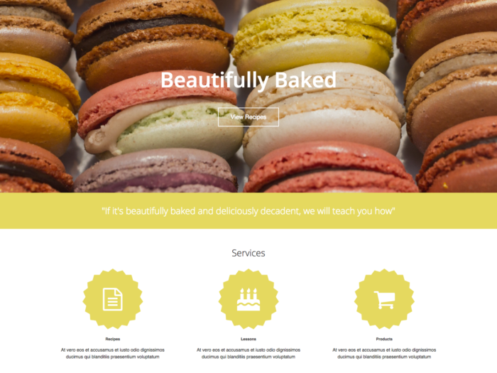 Web Design Layout Beautifully Baked