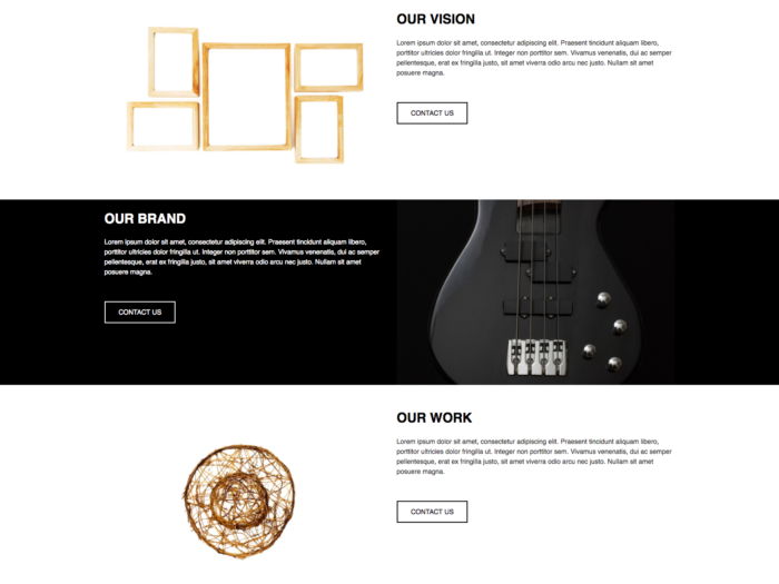 Web Design Layout Black