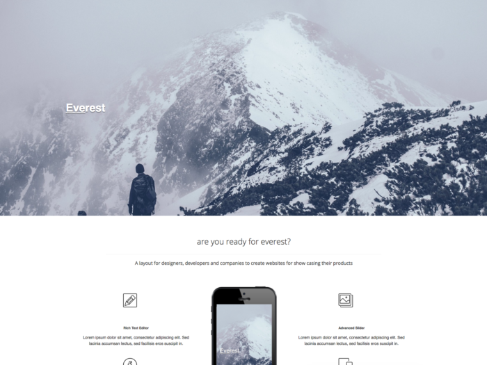 Web Design Layout Everest Design