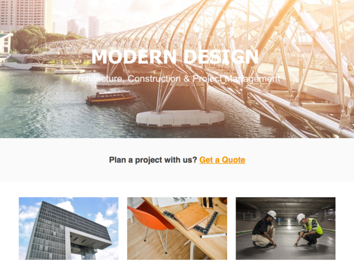 Web Design Layout Modern Design